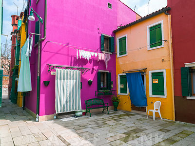 Multi-Coloured houses, Burano, Italy