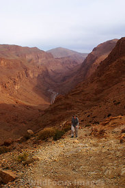 Walking the loop trail around Todra Gorge,  High Atlas, Morocco, Portrait
