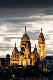 The Sacré Coeur of Paris at twilight