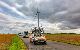 Row of Technical Vehicles - Paris-Tours 2017