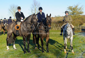 Louisa Fear, Katie Dutton, Laura Watson at the meet at Owston 29/11