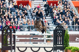 Paris, France, 17.3.2018, Sport, Reitsport, Saut Hermes - .PRIX GL Events Bild zeigt Julien GONIN(FRA) riding Well Done...17/03/18, Paris, France, Sport, Equestrian sport Saut Hermes - PRIX GL Events. Image shows Julien GONIN(FRA) riding Well Done.