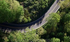 Aerial photograph of The Crooked road in Grayson County, Virginia