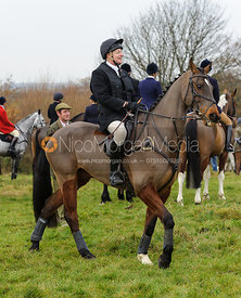 Followers at the meet - The Cottesmore Hunt at Dene Bank Farm 3-12