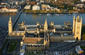 Aerial photograph of Parliment and Big Ben, London, England, United Kingdom