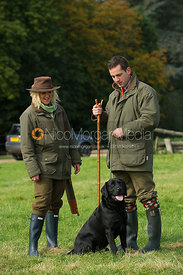 Couple on a game shoot in England