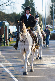 Joss Williams arriving at the meet - The Cottesmore Hunt in Melton Mowbray 2/1