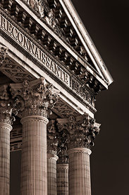 Detail of the Pantheon of Paris