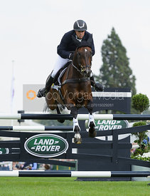 Sam Griffiths and HAPPY TIMES - show jumping phase, Burghley Horse Trials 2014.