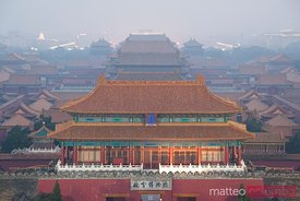 The forbidden city at dusk in Beijing