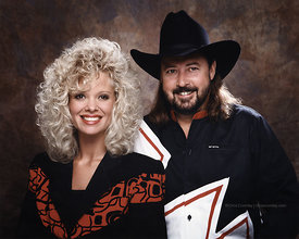 Studio portrait of Misty Wright and Gary Street, Easy Street Band.