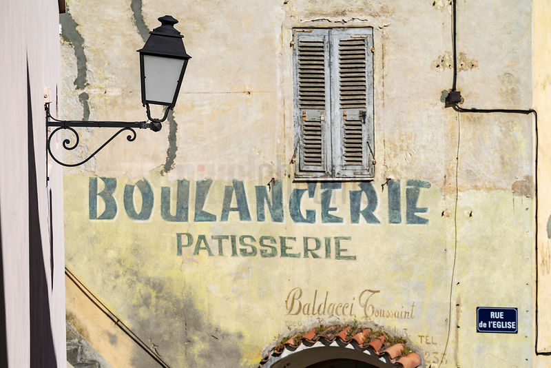 Old Lettering in the Old Town of Corte