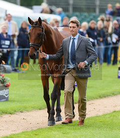 Gubby Leech and XAVIER at the trot up, Land Rover Burghley Horse Trials 2018