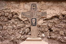 Grave of soldier who fought in Chaco War in cemetery, Uyuni, Bolivia