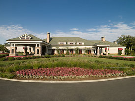 Princess Anne Country Club (PACC) building in morning light, Virginia Beach, VA