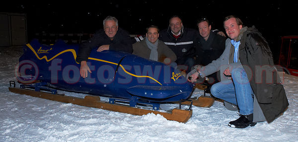 Inauguration of the Monobob of the Team Four Plus in St.Moritz