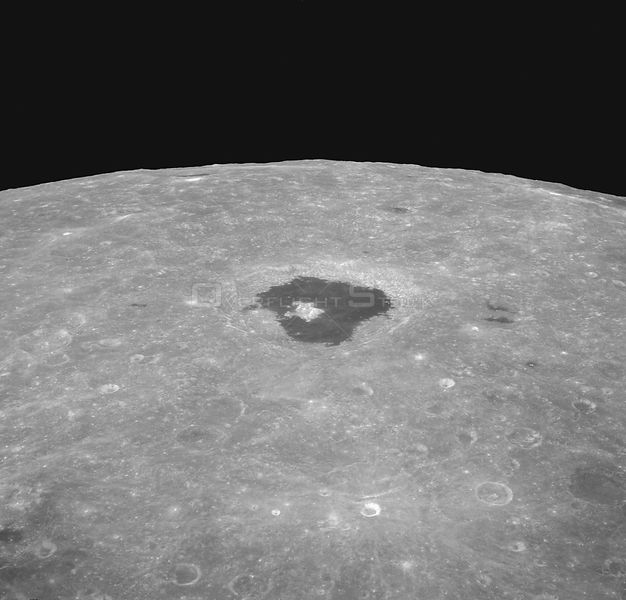 21-27 Dec. 1968) --- An oblique view from the Apollo 8 spacecraft looking eastward across the lunar surface