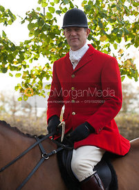 Adam Cooke arrives at the meet - Cottesmore Hunt Opening Meet, 30/10/12