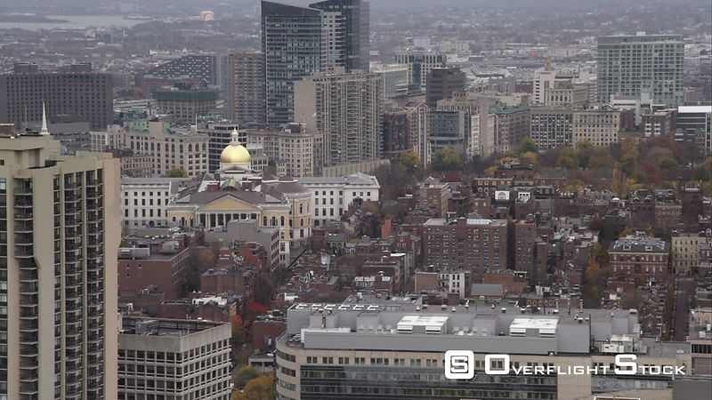 Past Boston's North End, Looking Toward the Capitol Dome. Shot in November