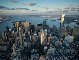 Aerial photograph of the New York City Financial District