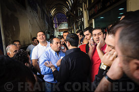 Istanbul gold and currency traders
