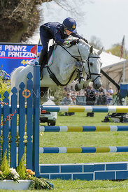 Vittoria Panizzon and Borough Pennyz - show jumping phase,  Mitsubishi Motors Badminton Horse Trials, 6th May 2013.