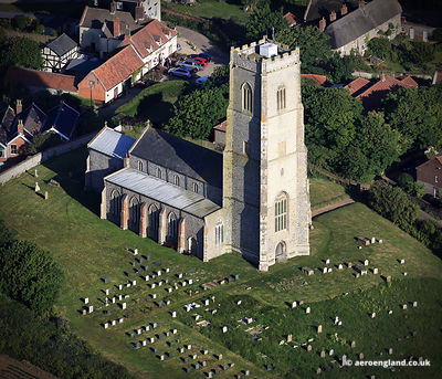 aerial photograph ofSt Mary's, Happisburgh, Norfolk England  UK