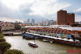Elevated view of Clarke quay, Singapore