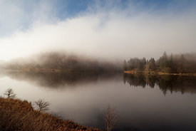 Mist over Derwent reservoir