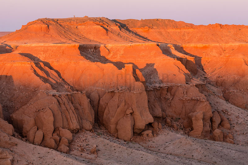 Flaming Cliffs at Sunset