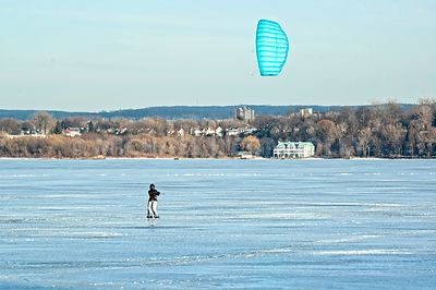 Blue Ice Sailor on Presque Isle Bay- Erie, PA