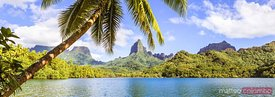 Panoramic of Opunohu bay, Moorea, French Polynesia