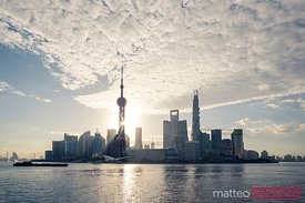 Shanghai skyline, early morning, China