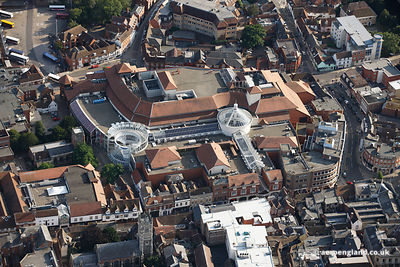 AERIAL PHOTOGRAPH OF THE BUTTERMARKET SHOPPING CENTRE, THE BUTTERMARKET ST STEPHENS LANE CITY CENTRE IPSWICH IP1 1DT, UK