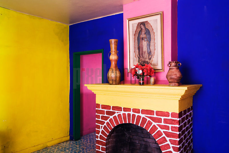 Colorful room and Madonna