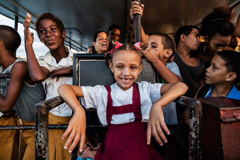 Portrait of a Young Girl on a Ferry Boat to Cayo Granma