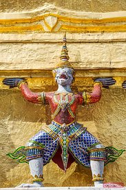 Close up of statue in the Grand Palace compound, Bangkok