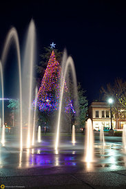 Downtown Chico Plaza at Christmas #4