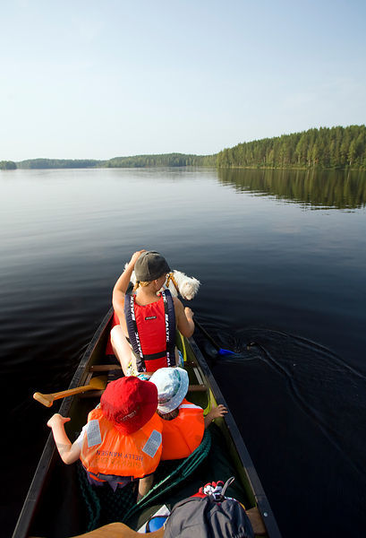 Paddling in Leivonmäki National Park