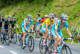 The Cyclist Vincenzo Nibali in Yellow Jersey - Tour de France 2014