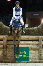 Bordeaux, France, 2.2.2018, Sport, Reitsport, Jumping International de Bordeaux - DEVOUCOUX Indoor Derby. Bild zeigt Michael JUNG (GER) riding Corazon...2/02/18, Bordeaux, France, Sport, Equestrian sport Jumping International de Bordeaux - DEVOUCOUX Indoor Derby. Image shows Michael JUNG (GER) riding Corazon.