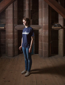 17-year-old Saskia Frisby pictured in 2016 in Worcester Catherdal bell tower, who has been ringing bells since she was 13.