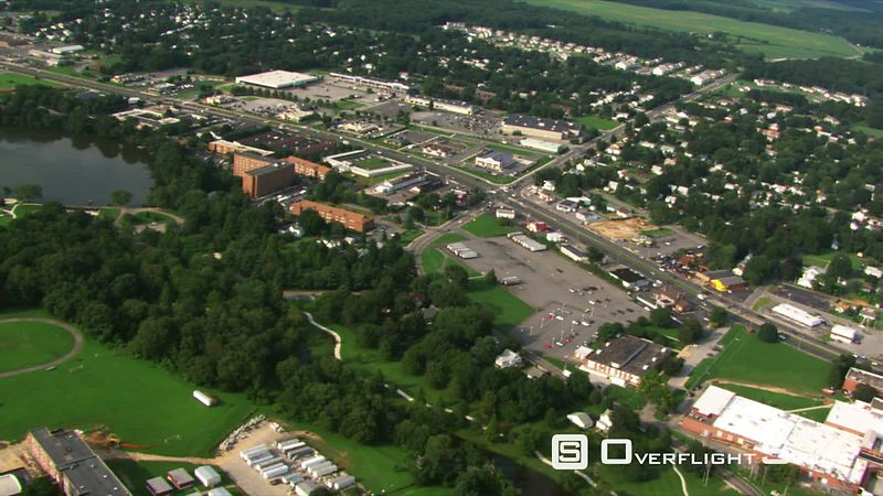 Aerial view of Dover, Delaware, and surrounding area.