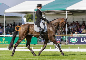 Sophie Jenman and GERONIMO - dressage phase,  Land Rover Burghley Horse Trials, 5th September 2013.