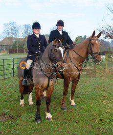 Julia Hallam Seagrave - The Cottesmore Hunt at Burrough House 17/12