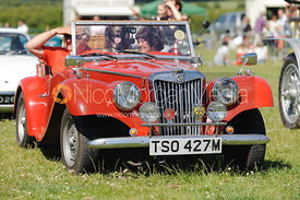 The parade of classic and vintage cars.