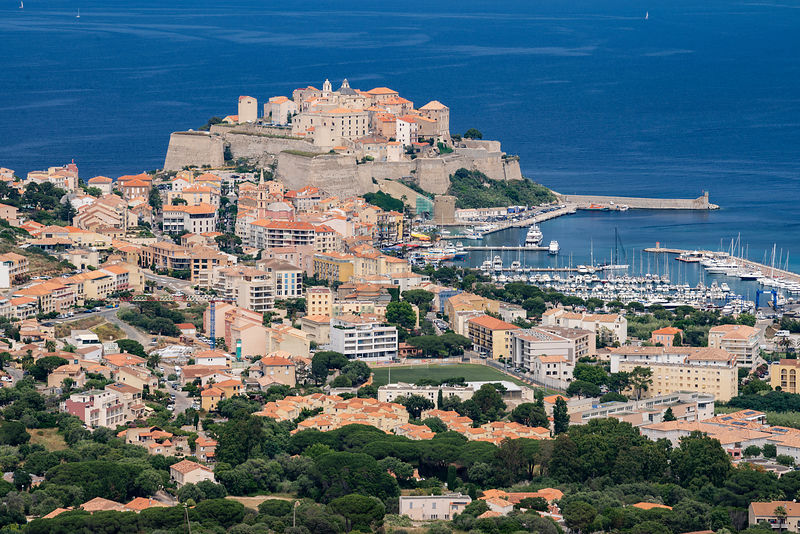 Elevated View of Calvi from Notre Dame de la Serra