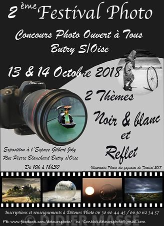 2 ème FESTIVAL PHOTO à Butry-sur-Oise (Val d'Oise) 13 et 14 octobre 2018 photos