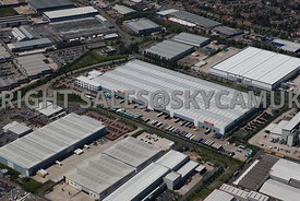 Birmingham aerial photograph of Fort Dunlop Wingfoot Way Wingfoot Close Castle Bromwich