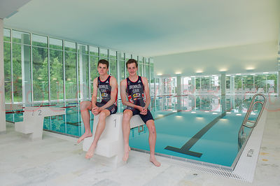 Triathlon Alistair & Jonathan Brownlee Brothers St.Moritz photos